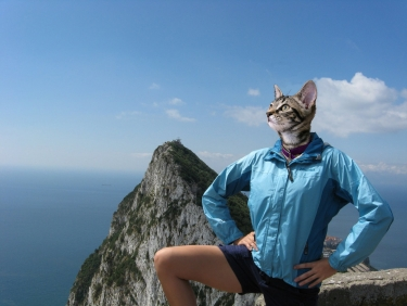 M'lady at the Rock of Gibraltar
