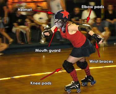 M'lady at the roller derby